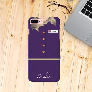 Hong Kong Airlines Air Hostess Fight Attendant Gold scarf iPhone Samsung Case