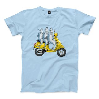 Squid sardine - water blue - neutral t-shirt