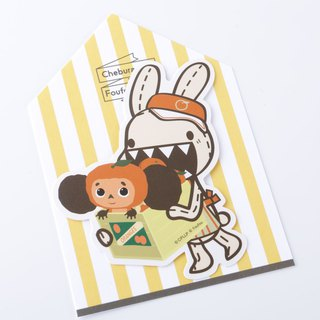 Large ears zabu waterproof stickers - Bonnie and Chab