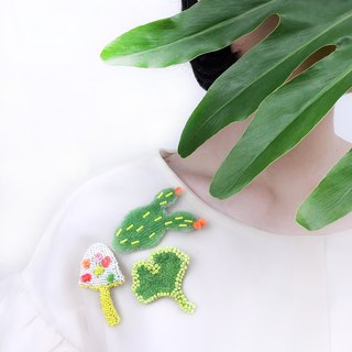 Never a curtain of the theme of bionic delicate beaded plant brooch