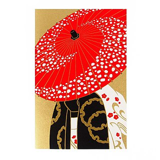Japanese kimono senior and paper [Hallmark-card classic wind / multi-purpose]