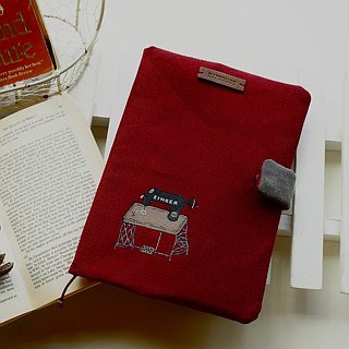 Hand-painted antique sewing book clothing / Pocket book clothing / calendar almanac clothing (wine red / gray) suitable A5/25K book