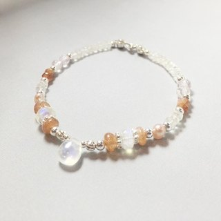 MH sterling silver custom natural stone series _ Orange Blossom Acacia