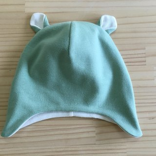 gujui plain organic cotton baby hat _ green water