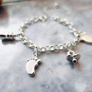 Baby series / baby bracelet / 925 sterling silver