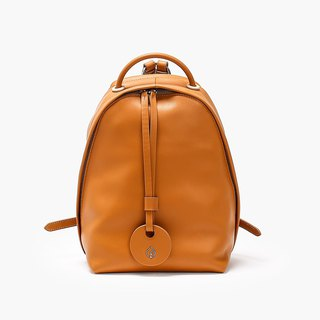 Bodhi says FOSTYLE first layer cowhide leather new basic backpack caramel original design simple wild color backpack