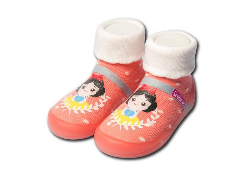 Feebees toddler shoes/socks shoes/children's shoes fantasy island series orange princess made in Taiwan