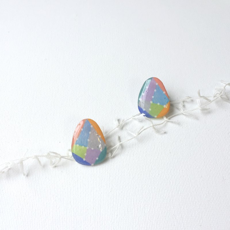 Eight-color egg clip/needle earring