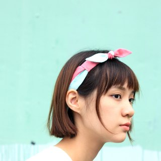 【The MAMA's Closet】Papillon (Pink with Light Green) / Classic Headband