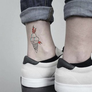Gucci Mane Ice Cream Cone Temporary Tattoo