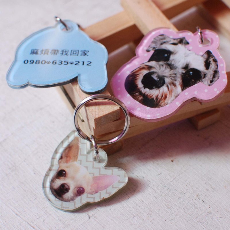 Customized pet tag/brand/photo