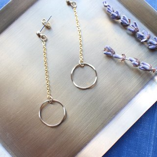 Turn around- Brass earrings