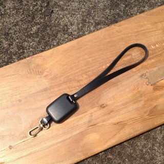 (Short rope) leather retractable lanyard, lanyard, leather rope, rope hook section easy to pull, can hook the key