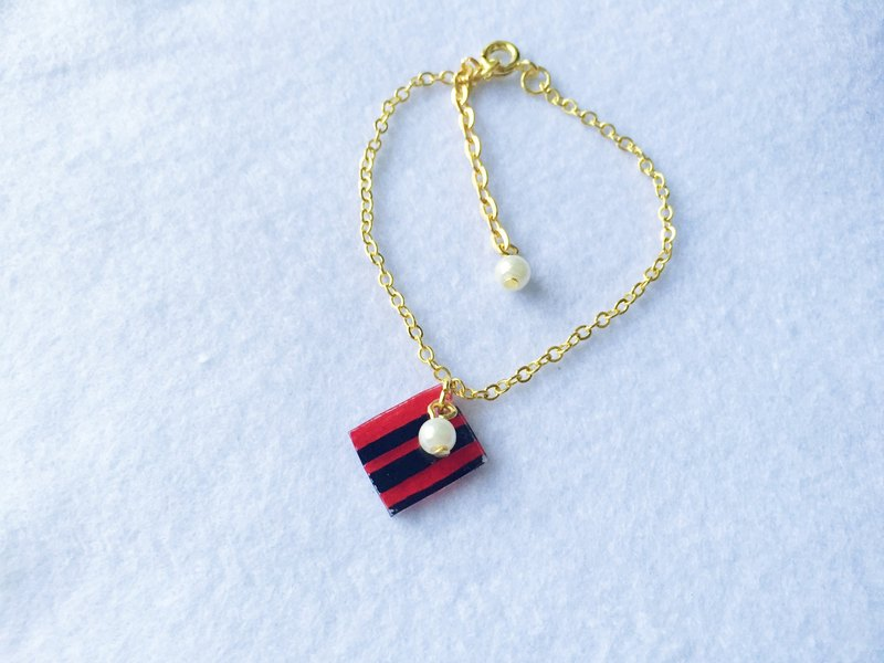 Minimalist Geometric Bracelet - Duo Color (Red & Black)