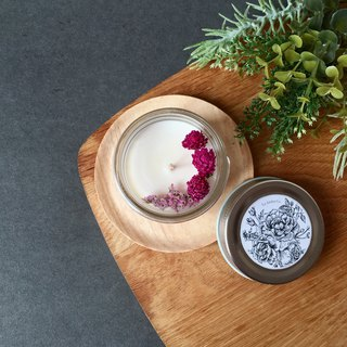 Botanical Hand-Poured Scented Soy Wax Candle | Dried Flower Travel Size Candle