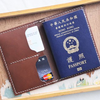 Double position ticket holder passport set well stitched leather material package PASSPORT certificate set Italy