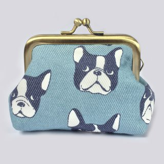 口金包 Cute Dog Coin pouch, Small Kisslock Purse, Boston Terrier