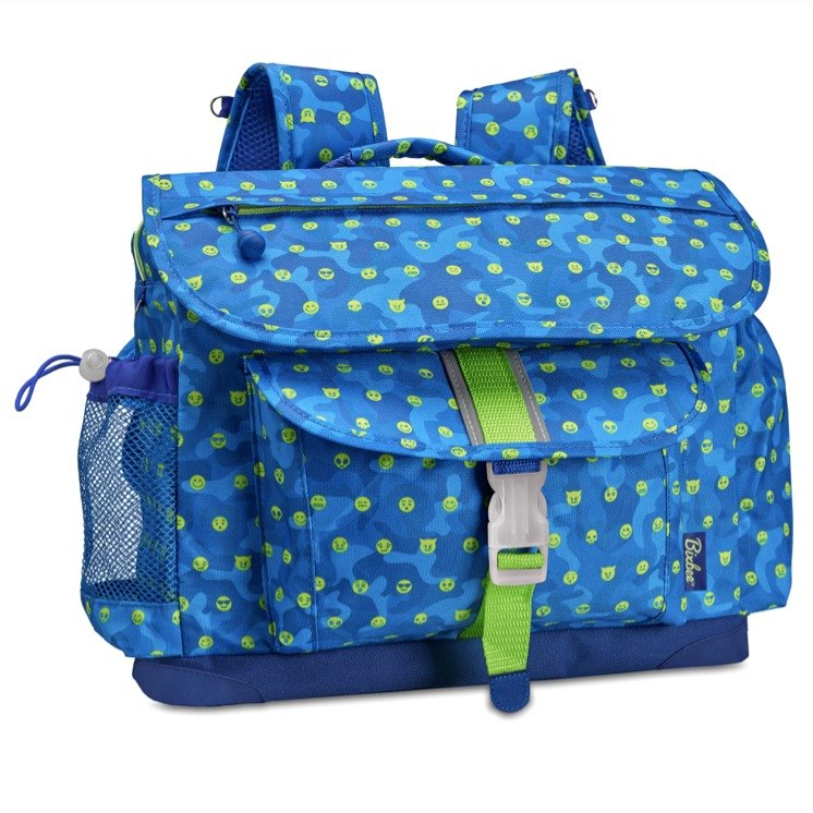 American Bixbee Limited Edition - Emoji Breathless Blue Child Lightweight Back Pressure / Schoolbag