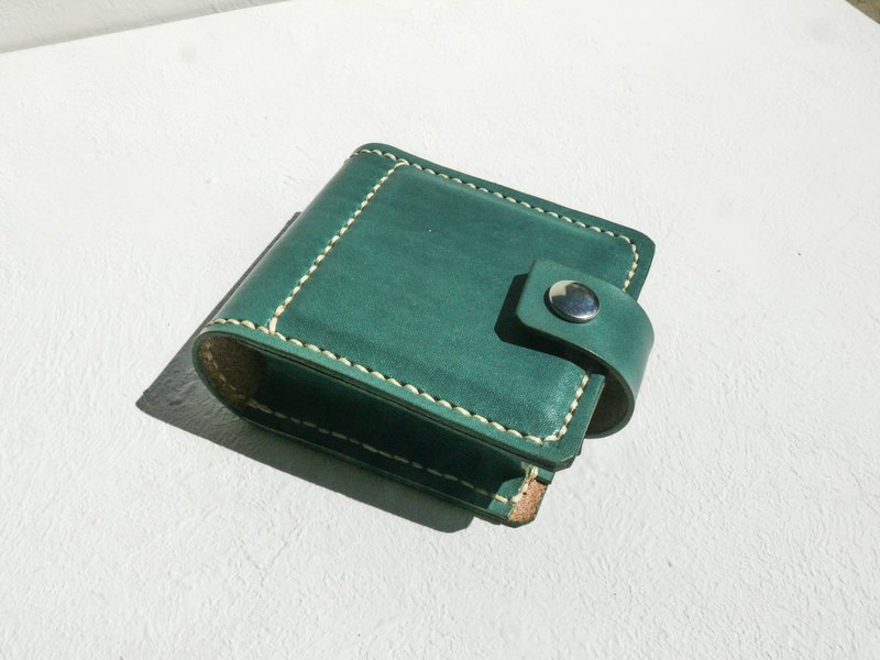 Do not hit the bag grass green vegetable tanned leather full leather lipstick box with mirror