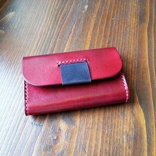 Leather leather hand-made hand-dyed business card holder business card box document bag card package credit card custom
