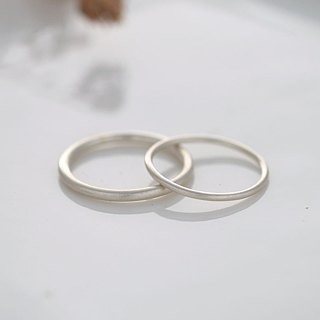 Ni.kou sterling silver line ring couple ring