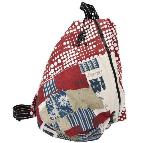 【Is Marvel】Classic red and white dot stitching triangle backpack