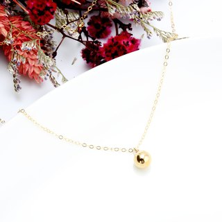 14KGF ball Gold-filled necklace Valentine's Day gift