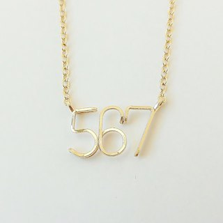 Number (number) 3 digit chain bracelet