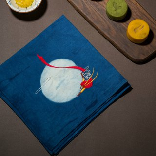 Dasheng Yueyue original hand-made embroidery handkerchief square towel collar towel does not contain moon cake parents elder holiday gift