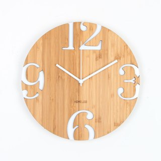 LOO Big Numbers Wall Clock White
