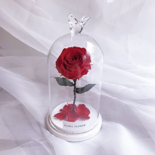 (Scarlet) Little Prince Eternal Flower Glass Graduation Gift/Eternal Flower