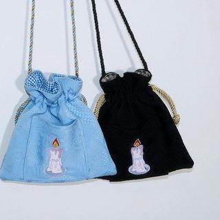 LONELY WAVE LITTLE LONELY CANDAL Drawstring SHOULDER BAG