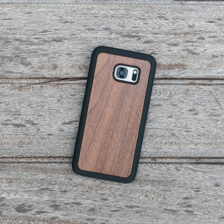 Original Nature Walnut Wood Phone case (Samsung S7,S7 Edge) with hard shell back case