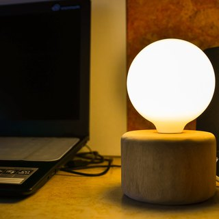 Moon Planet - (Handmade with light bulb & lamp holder & no dimmable)