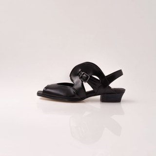 ZOODY / bubble / handmade shoes / flat hollow sandals / black
