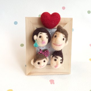 Frame My Love Wool Felt Custom Magnet