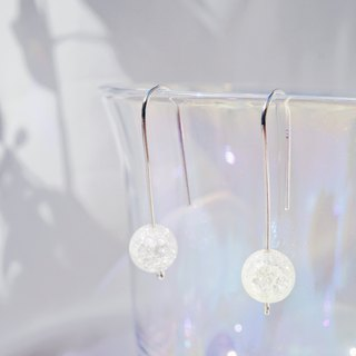 Small Crystal Ball 925 Silver earrings