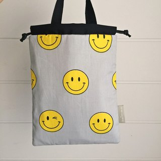 Smiley Pocket/Notepad/Small Objects Storage Bag (tn/hobo/MD/Diary)