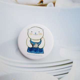 Painter bear brooch
