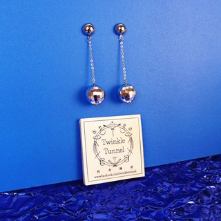 Disco Ball Chain Earrings