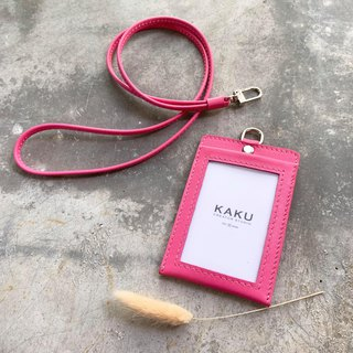 KAKU leather design clip document folder leisure card clip love charm pink
