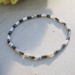 White stone natural stone brass bracelet (1067 good luck to)