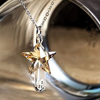 Customized Austrian crystal rice necklace / five-pointed star / small starfish clavicle necklace name lettering
