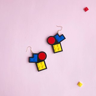 Classic  Mondrian  LEGO earrings