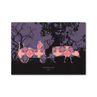 Tainan design silhouette life series environmental Nice paper postcards