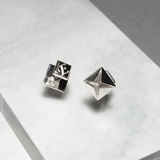 Customized Personal 3D Printed Silver Cuff Links