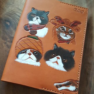 Pet cat vintage yellow B6 notebook