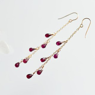 Lord light garnet chandelier earrings January's birthstone
