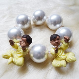 Twin Baby Bracelet Yellow Harajuku kawaii