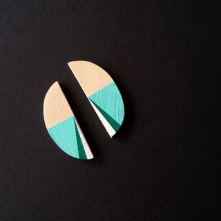 Wooden Earrings No.34
